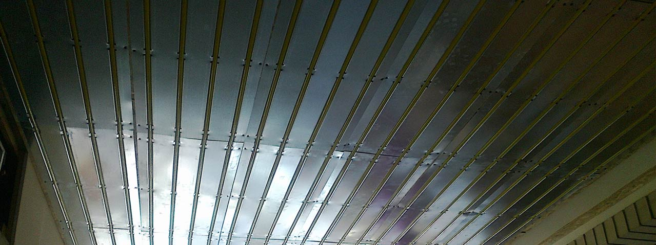 A könnyűszerkezetes fűtő-hűtő panel